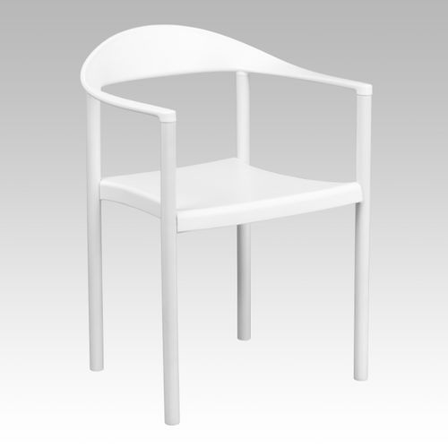 TOUGH ENOUGH Series 1000 lb. Capacity White Plastic Cafe Stack Chair