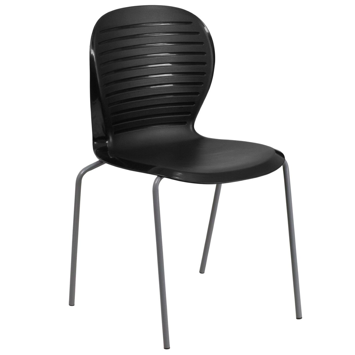 TOUGH ENOUGH Series 551 lb. Capacity Black Stack Chair