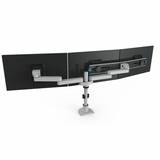 TRIPLE MONITOR STAND. VESA MOUNT HOLDS 3 MONITORS VERTICALLY OR HORIZONTALLY TO CREATE MORE DESKTOP WORKSPACE.