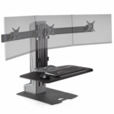 TRIPLE MONITOR STAND W/VESA MOUNT HOLDS 3 MONITORS VERTICALLY OR HORIZONTALLY TO CREATE MORE DESKTOP WORKSPACE. FREE SHIPPING: