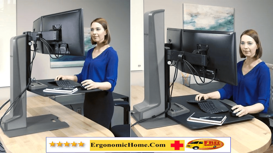 <font color=#c60><b>INNOVATIVE WINSTON  ELECTRIC MOTORIZED MONITOR STAND. STAND UP TO WORK FIT.  #WNSTE-2-270. FREE SHIPPING. </b></font>