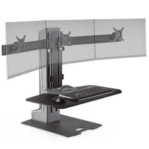 "<b><font color=#c60>Winston Electric Adjustable Triple Monitor Stand W/Compact Work Surface 30""W x 16""D #WNSTE-3-CW. Free Shipping:</b></font></font></b>"