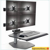 "<b><font color=#c60>WINSTON INNOVATIVE QUAD MONITOR SIT TO STAND DESK RISER. SUPPORT MONITORS UP TO 30"" #WNST-2OVER2-FS-M-BLK104</b></font></font></b>"