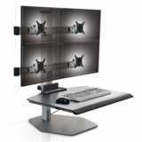 "</b></font>WINSTON INNOVATIVE QUAD MONITOR SIT TO STAND DESK RISER VERTICAL HEIGHT ADJUSTMENT 17"". SUPPORTS MONITORS UP TO 30"": #WNST-2OVER2-FS-M. VIDEO:</b></font> <p>RATING:&#11088;&#11088;&#11088;&#11088;</b></font></b>"