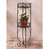 Metal Two Tier Planter Shelf