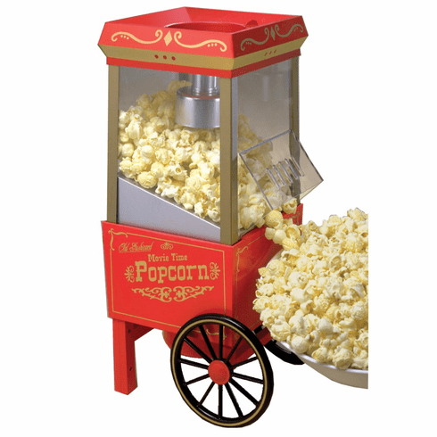 Nostalgia Electrics Popcorn Maker Old Fashioned Movie Time Hot Air