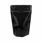 8 oz Stand Up Zip Pouch (Black)
