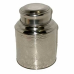 Large Stainless Steel Tea Canister (9 oz - 16 oz)