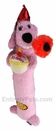 "12"" Loofa Birthday Plush - Assorted Colors (2-PACK)"