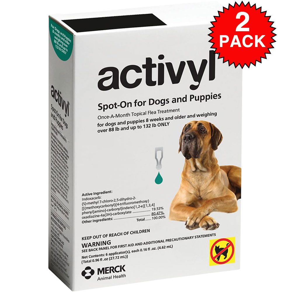 12 Month Activyl Spot-On for Extra Large Dogs & Puppies - 88-132 lbs - from EntirelyPets