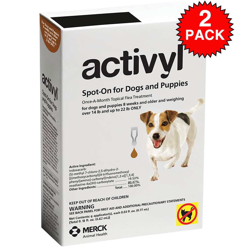 12 Month Activyl Spot-On for Small Dogs & Puppies - 14-22 lbs - from EntirelyPets