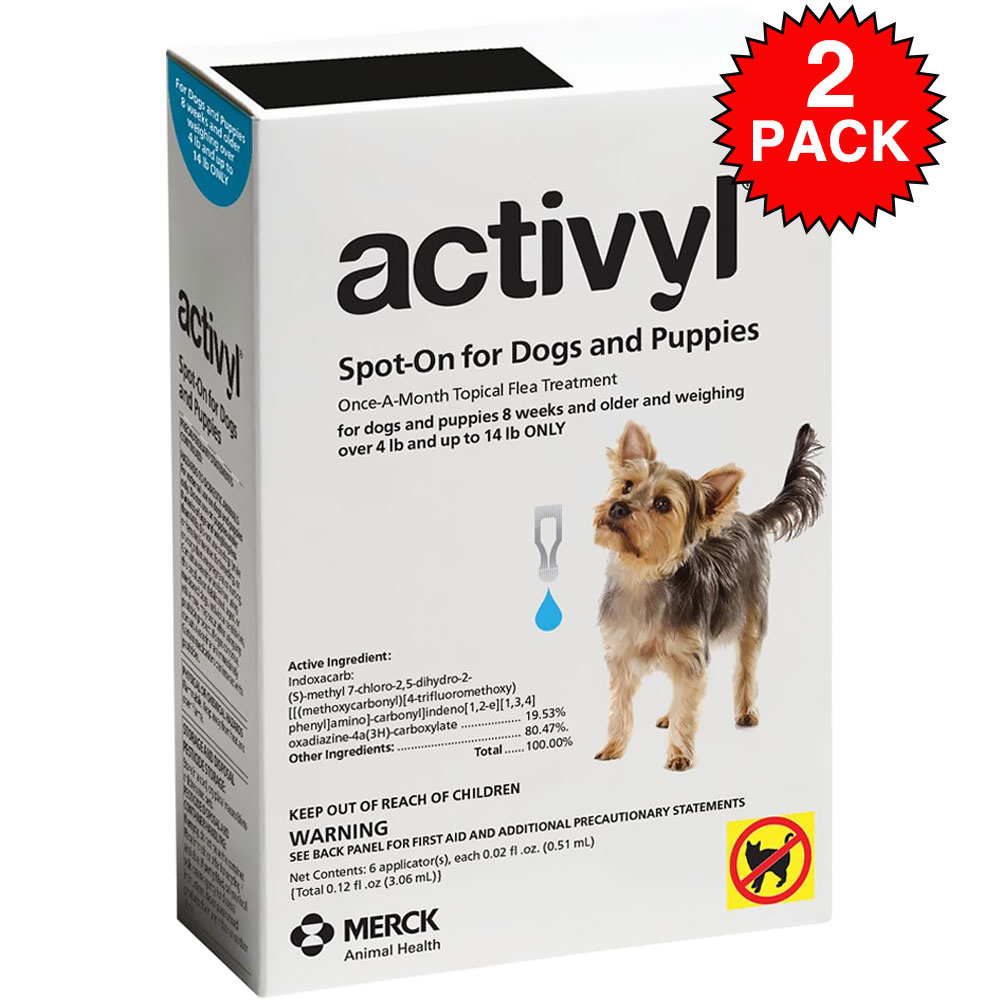 Image of 12 MONTH Activyl Spot-On for Toy Dogs & Puppies (4-14 lbs)