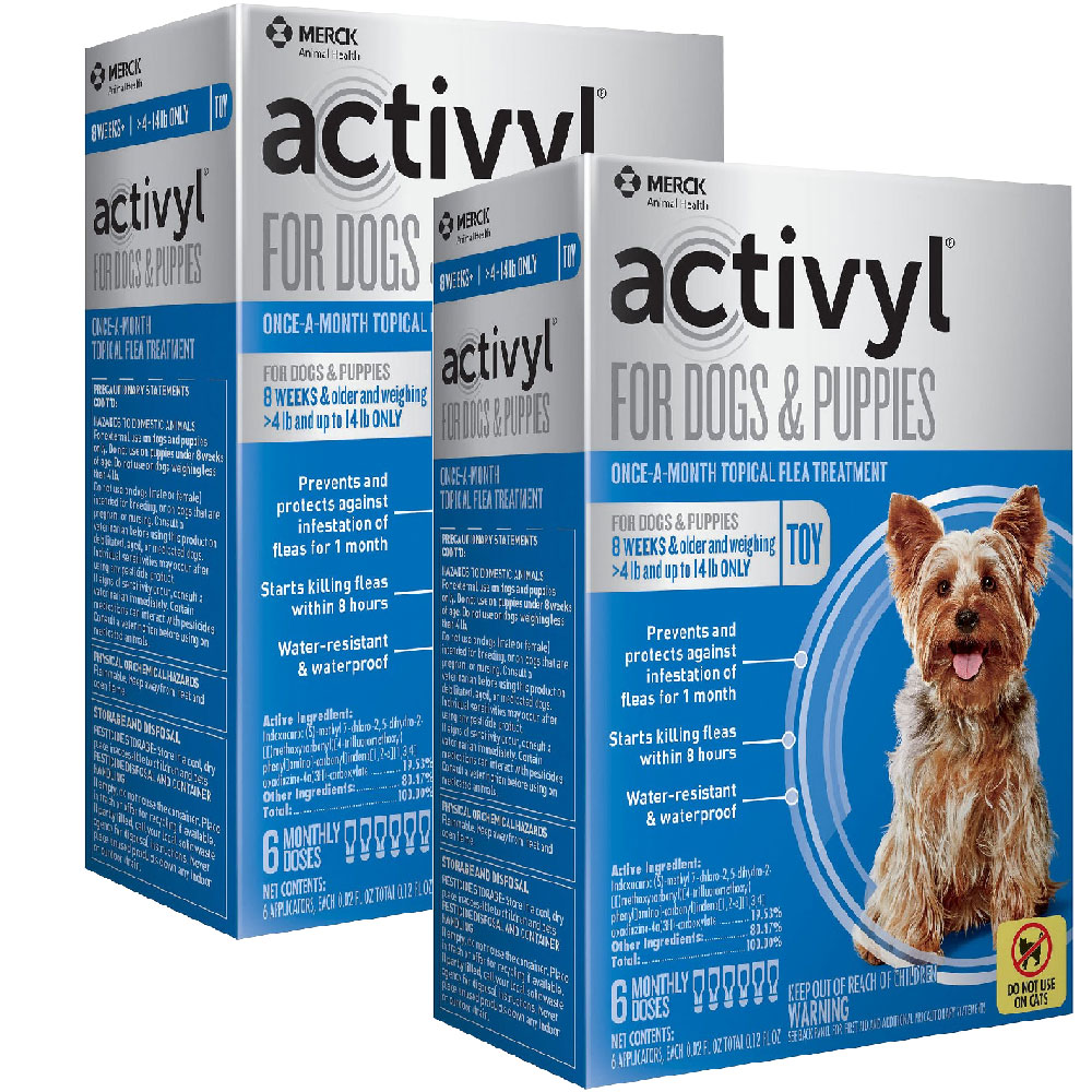 12 MONTH Activyl Spot-On for Toy Dogs & Puppies (4-14 lbs) im test