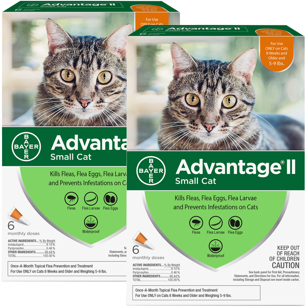 Advantage II Flea Control for Small Cats 5-9 lbs, 12 Month im test