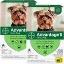 12 MONTH Advantage II Flea Control for Small Dogs (under 10 lbs)