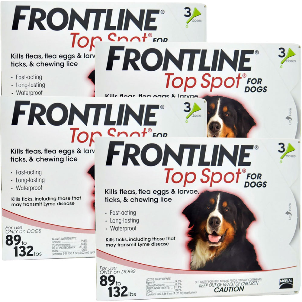 Image of 12 Month Frontline Top Spot Red: for Dogs 89-132lbs. from Entirely Pets