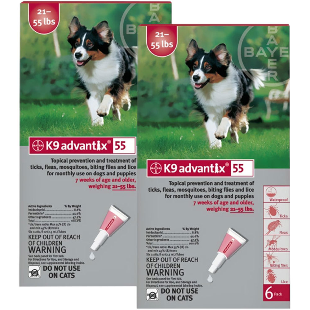 12 MONTH K9 ADVANTIX Red (for dogs 21-55lbs) im test