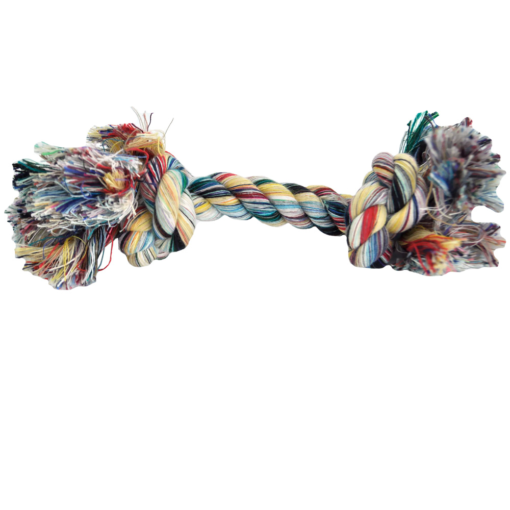2 Knot Multi Color Tug Rope Bone - Large (8 inch) im test