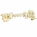 2 Knot White Tug Rope Bone - Small (5 inch)