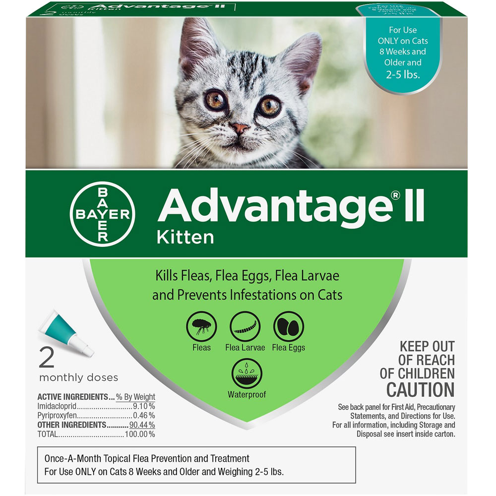 Advantage II Flea Control for Kittens 2-5 lbs, 2 Month im test