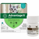 2 MONTH Advantage II Flea Control for Kittens (2-5 lbs) + Tapeworm Dewormer for Cats (3 Tablets)