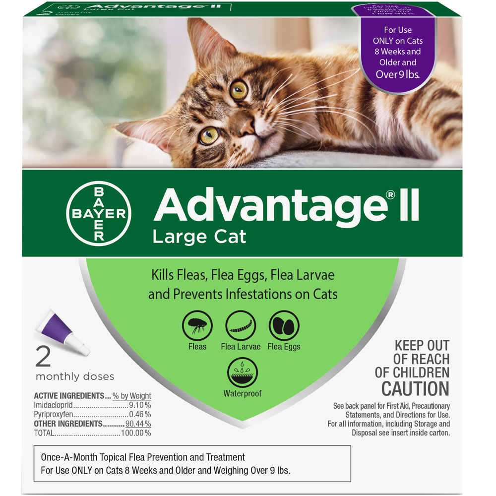 Advantage II Flea Control for Large Cats Over 9 lbs, 2 Month im test