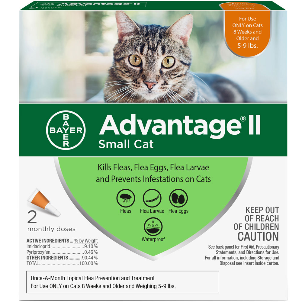 Advantage II Flea Control for Small Cats 5-9 lbs, 2 Month im test