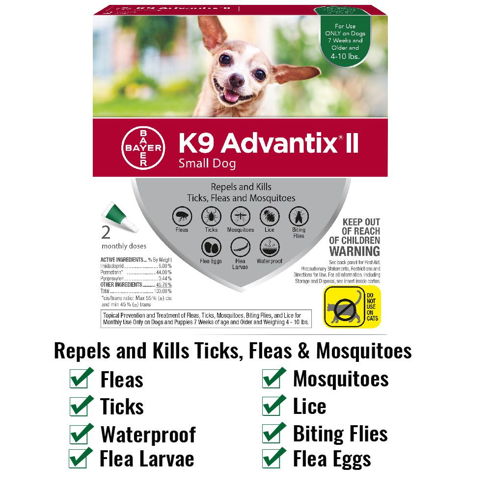 K9-ADVANTIX-II-GREEN-SMALL-DOG-2-PACK
