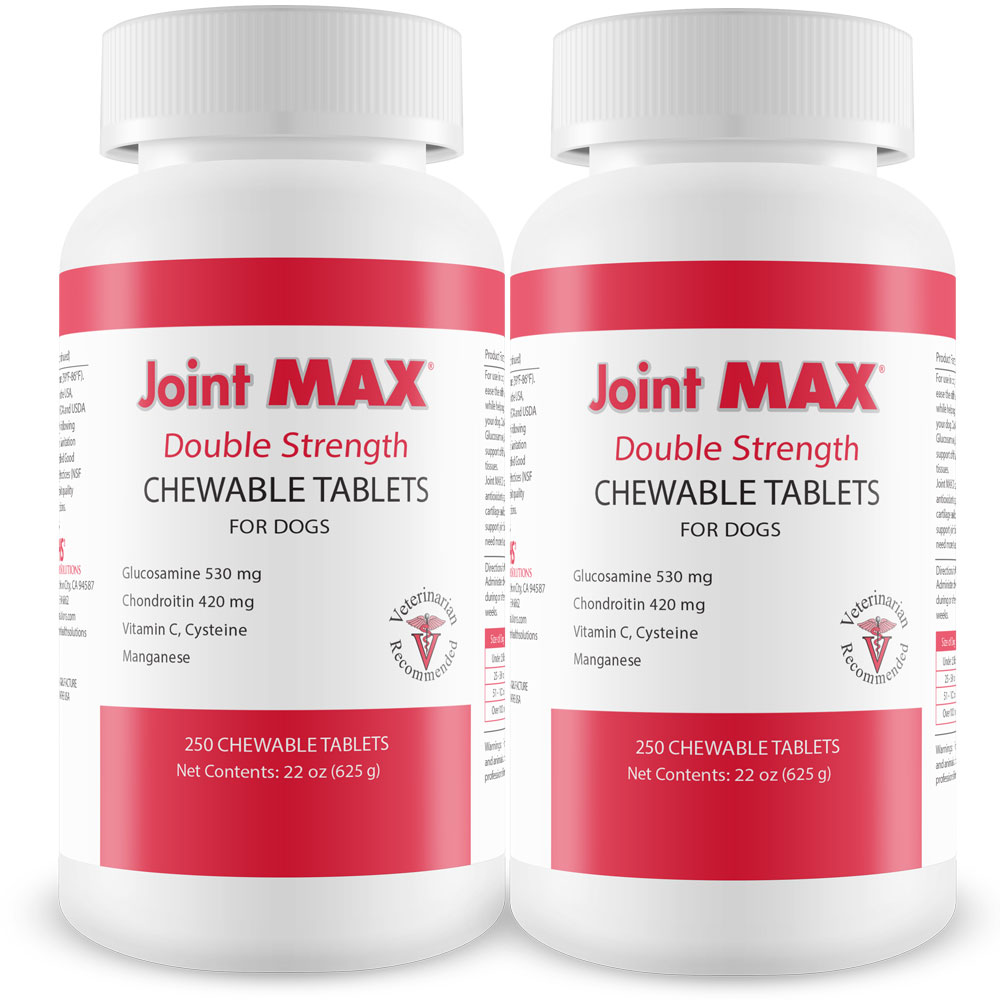 2-Pack Joint MAX Double Strength - 500 Chewable Tablets - For Dogs - from EntirelyPets