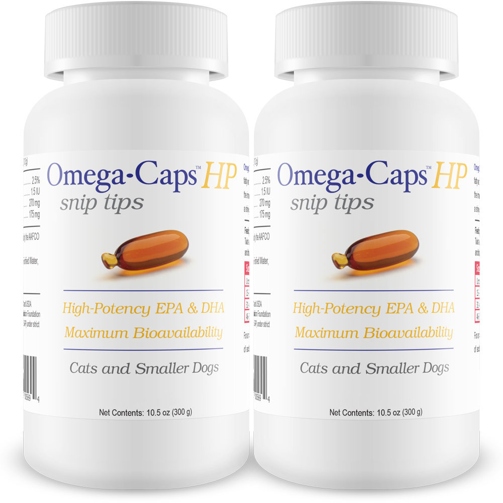 2-PACK Omega-Caps HP snip tips for Cats & Smaller Dogs (500 Capsules) im test