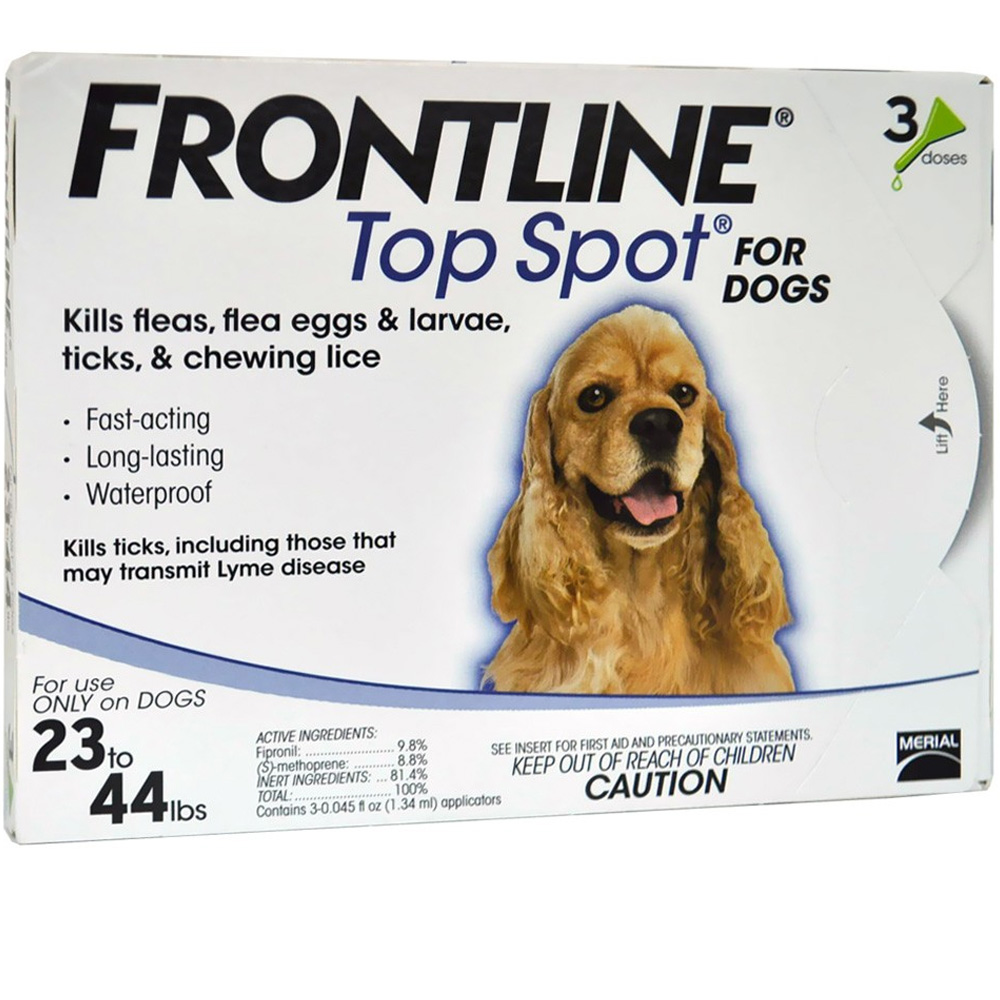 Image of 3 MONTH Frontline Top Spot Blue: For dogs 23-44 lbs