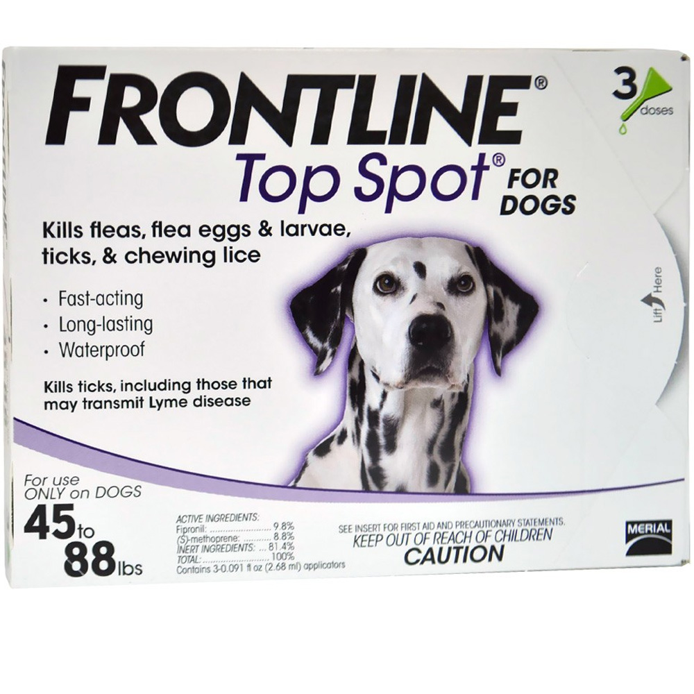 Image of 3 MONTH Frontline Top Spot Purple: For Dogs 45-88 lbs.