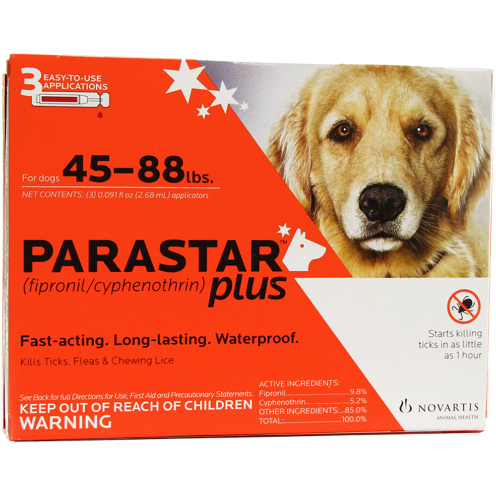 3 MONTH Parastar PLUS for Dogs - Red (45-88 lbs) im test