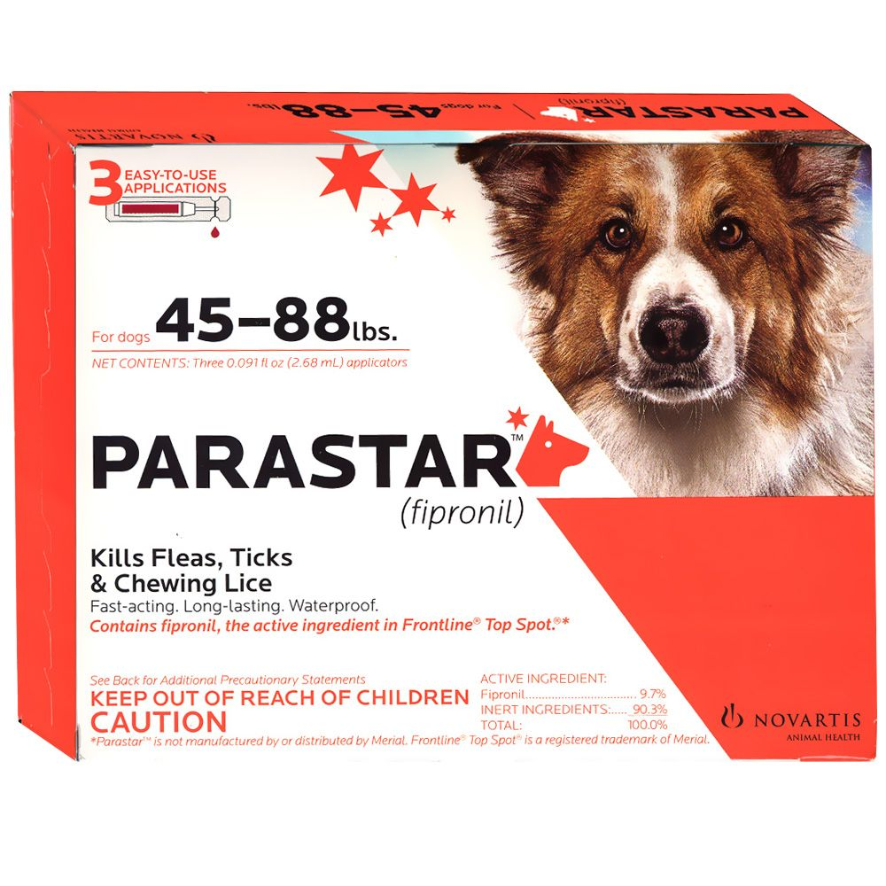3 Month Parastar Red for Dogs 45 - 88 lbs im test