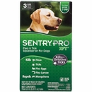 3 Month SentryPro XFT61 Flea & Tick Squeeze-On GREEN for Dogs over 60 lbs