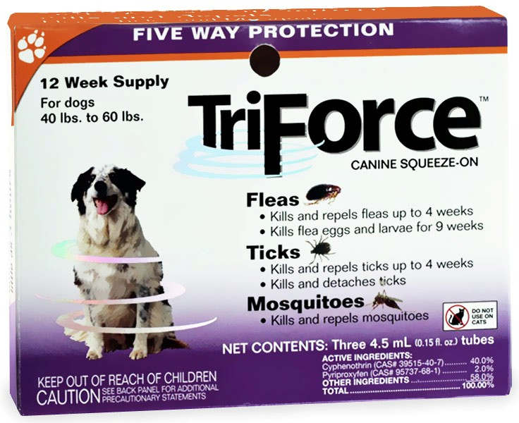 3 MONTH TriForce Orange for DOGS 40-60 lbs im test