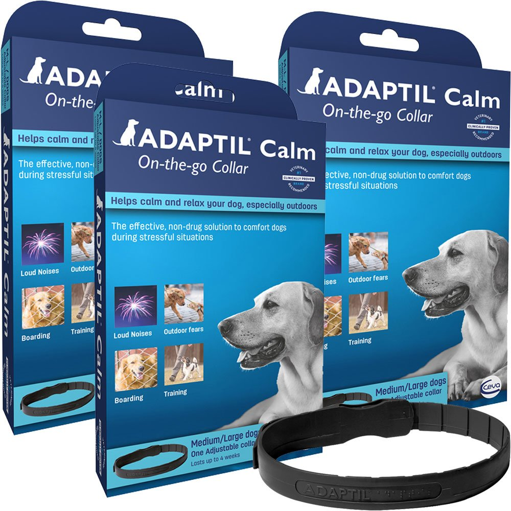 3 Pack ADAPTIL On-The-Go Collar for Dogs (Large)