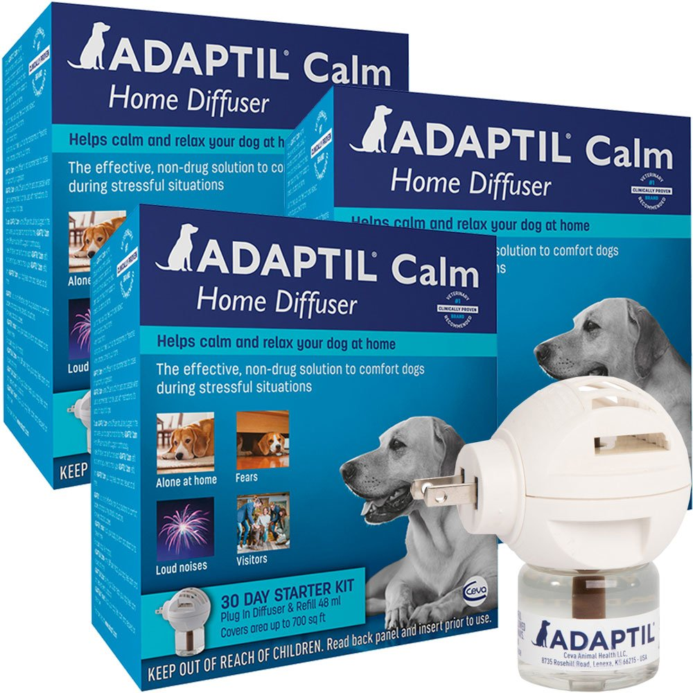 Image of 3 PACK ADAPTIL Calm Home Diffuser for Dogs (30 Day Starter Kit) 144 ml