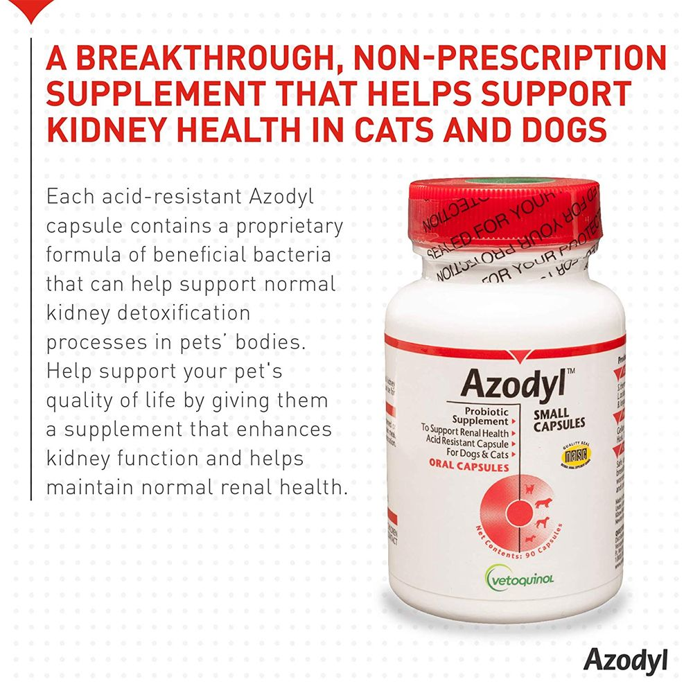 Sealed bottle next to summary stating proprietary formula of beneficial bactieria can help support kidney detoxification