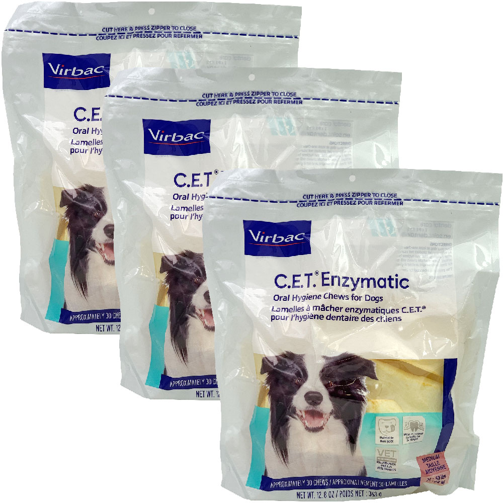 Image of 3-PACK CET Enzymatic Chews for Medium Dogs (90 Chews)