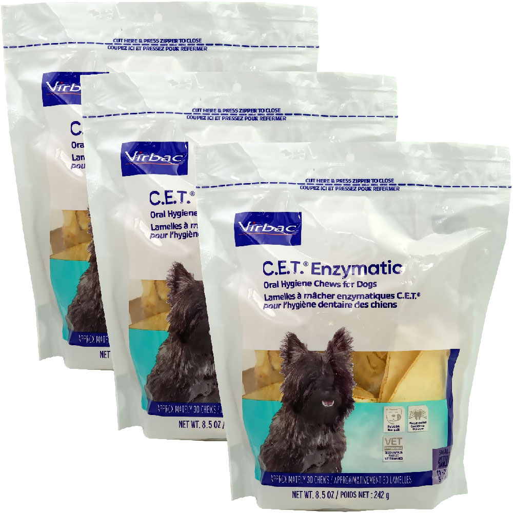 Image of 3-PACK CET Enzymatic Chews for Small Dogs (90 Chews)