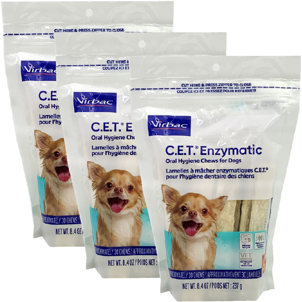 Image of 3-PACK CET Enzymatic Chews for Extra Small Dogs (90 Chews)