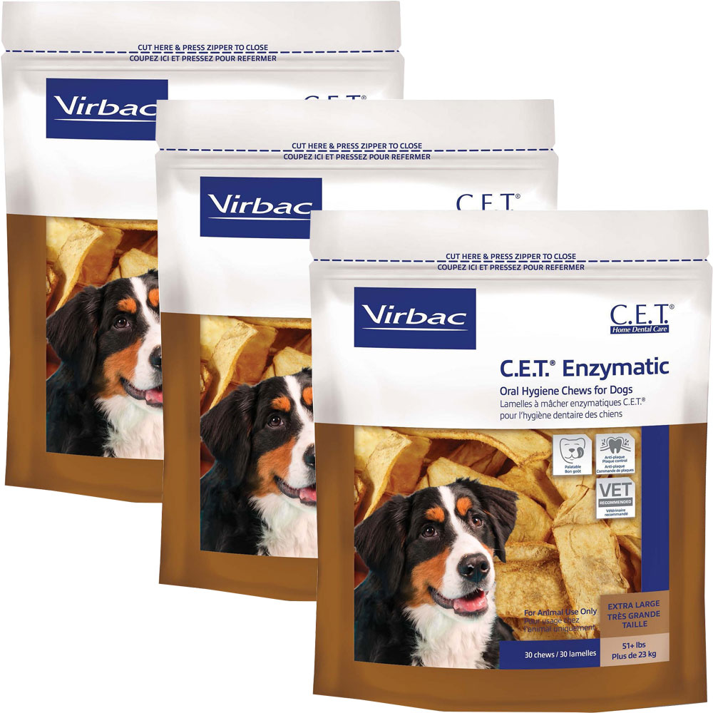 Image of 3-PACK CET Enzymatic Chews for Large Dogs (90 Chews)