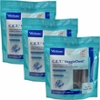 3-PACK CET VeggieDent Chews for Regular Dogs (90 chews)