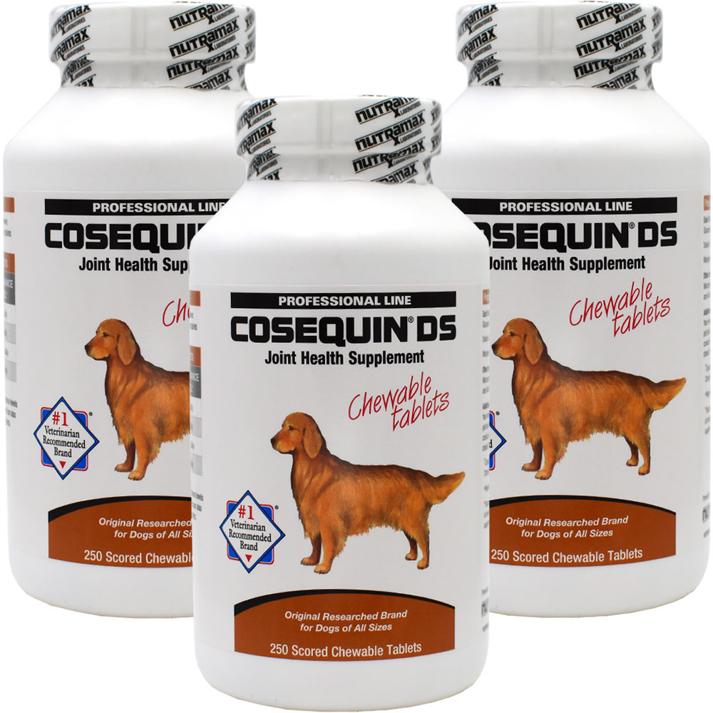 3-Pack Cosequin DS 250 CHEWABLES - 750 COUNT - For Dogs - from EntirelyPets