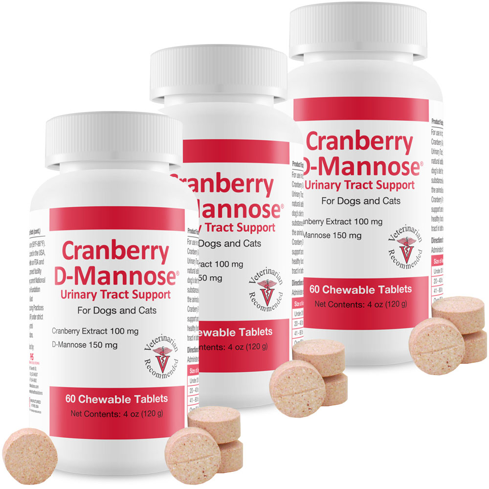 3-PACK Cranberry D-Mannose Urinary Tract Support (180 Tablets) im test
