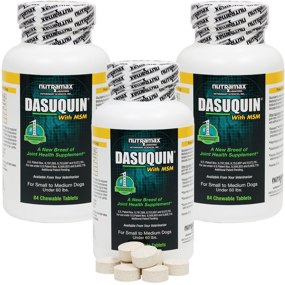 3-PACK Dasuquin for Small/Medium Dogs under 60 lbs. with MSM (252 Chewable Tabs) im test