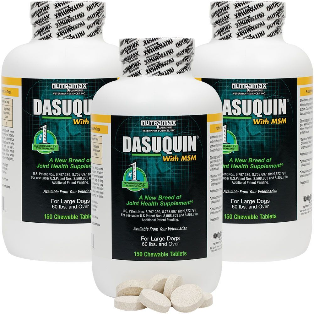 3-PACK Dasuquin for Large Dogs 60 lbs. & over with MSM (450 Chewable Tabs) im test