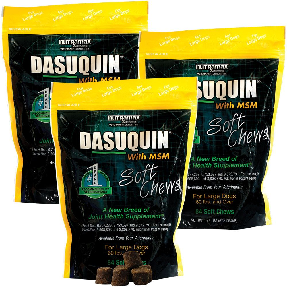 3-PACK Dasuquin Soft Chews for Large Dogs with MSM (252 Chews) im test