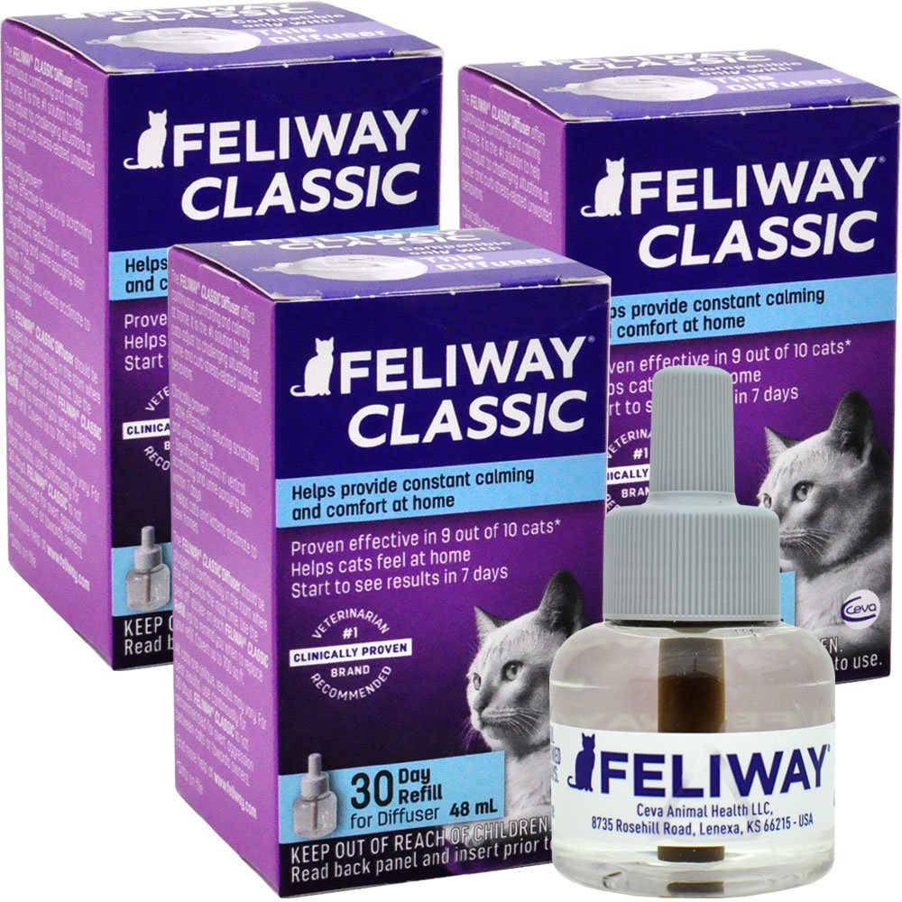 3 PACK FELIWAY CLASSIC Refill for Cats (144 mL) im test